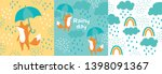cute vector illustration with... | Shutterstock .eps vector #1398091367