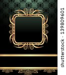 vintage frame on damask... | Shutterstock . vector #139809601