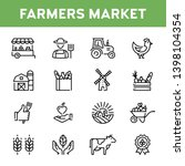 vector farmers market icon set. ... | Shutterstock .eps vector #1398104354