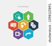 simple set of o arrow  export... | Shutterstock .eps vector #1398125891