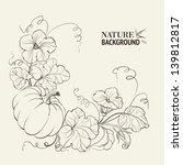 pumpkin vegetable with leaves... | Shutterstock .eps vector #139812817