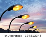 street light against twilight... | Shutterstock . vector #139813345