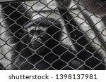 prison life. eyes reflecting... | Shutterstock . vector #1398137981