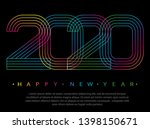 2020 happy new year. numbers... | Shutterstock .eps vector #1398150671