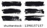 black brush stroke banners... | Shutterstock .eps vector #1398157157