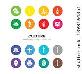 16 culture vector icons set... | Shutterstock .eps vector #1398164351