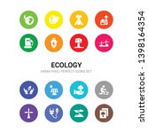 16 ecology vector icons set... | Shutterstock .eps vector #1398164354