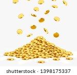 falling coins  falling money ... | Shutterstock .eps vector #1398175337