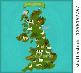 map of great britain with... | Shutterstock .eps vector #1398192767