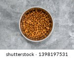 Top View Of Dry Dog Food In A...