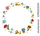 round flower frame for... | Shutterstock .eps vector #1398202034