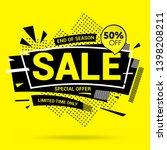 sale banner modern design  big... | Shutterstock .eps vector #1398208211