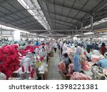 Small photo of Magelang, Central Java of Indonesia, May 14th 2019. A lots of ladies are work at clothing factory. Employment options in Indonesia is getting better, the payroll is much better now.