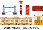 travel to england. landmarks ... | Shutterstock .eps vector #1398225047