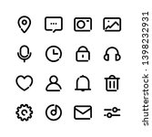 ui ux bold line icons set for...
