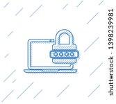 blue laptop with password... | Shutterstock .eps vector #1398239981