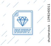 blue ruby file document icon.... | Shutterstock .eps vector #1398240011