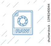 blue raw file document icon....   Shutterstock .eps vector #1398240044