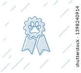 blue pet award symbol line icon ... | Shutterstock .eps vector #1398240914