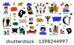 psychology. big set of hand... | Shutterstock .eps vector #1398244997