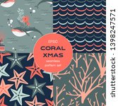 underwater coral merry... | Shutterstock .eps vector #1398247571