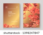 gold coral marble texture... | Shutterstock .eps vector #1398247847