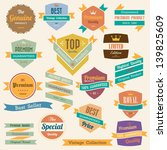 set of  retro vintage badges... | Shutterstock .eps vector #139825609
