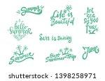 summer season themed hand... | Shutterstock .eps vector #1398258971