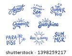 summer season themed hand... | Shutterstock .eps vector #1398259217