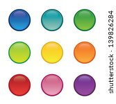 set of colorful blank round... | Shutterstock .eps vector #139826284