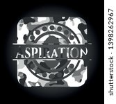 aspiration on grey camouflage... | Shutterstock .eps vector #1398262967