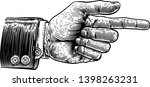 a hand pointing a finger in a... | Shutterstock .eps vector #1398263231
