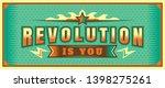 revolution banner design in... | Shutterstock .eps vector #1398275261