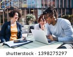 group of young businesspeople... | Shutterstock . vector #1398275297