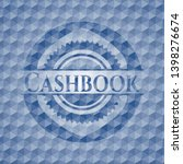 cashbook blue badge with... | Shutterstock .eps vector #1398276674