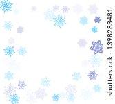 blue cyan paper snowflakes... | Shutterstock .eps vector #1398283481