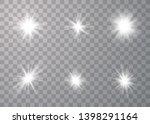glowing lights effect. star... | Shutterstock .eps vector #1398291164