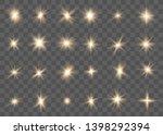 glowing lights effect  flare ... | Shutterstock .eps vector #1398292394