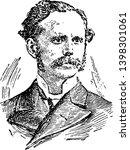 Henry Drummond 1851 to 1897 he was a Scottish evangelist biologist writer and lecturer vintage line drawing or engraving illustration