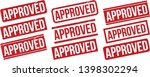 Approved Rubber Stamp Set. Red...