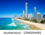 sunny view of surfers paradise... | Shutterstock . vector #1398304481