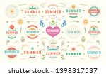 summer labels and badges design ... | Shutterstock .eps vector #1398317537