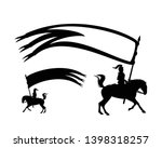 medieval knight riding a horse... | Shutterstock .eps vector #1398318257