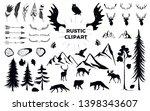 hand drawn vintage antlers ... | Shutterstock .eps vector #1398343607