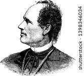 Josip Juraj Strossmayer 1815 to 1905 he was a Croatian politician Roman catholic bishop and benefactor vintage line drawing or engraving illustration