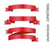 red ribbons set. vector design... | Shutterstock .eps vector #1398370601