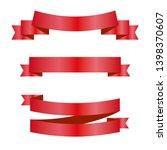 red ribbons set. vector design... | Shutterstock .eps vector #1398370607