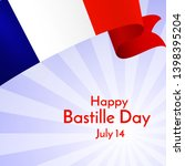 ribbon flag of france and text... | Shutterstock .eps vector #1398395204