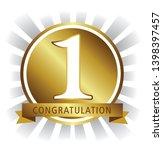 1st place congratulation medal... | Shutterstock .eps vector #1398397457