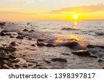 magnificent summer sunset on... | Shutterstock . vector #1398397817